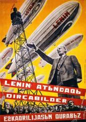 lenin-d0bbd0b5d0bdd0b8d0bd-leninelenin-airships-1931-russian-poster-we-are-building-a-fleet-of-airships-bn69pn